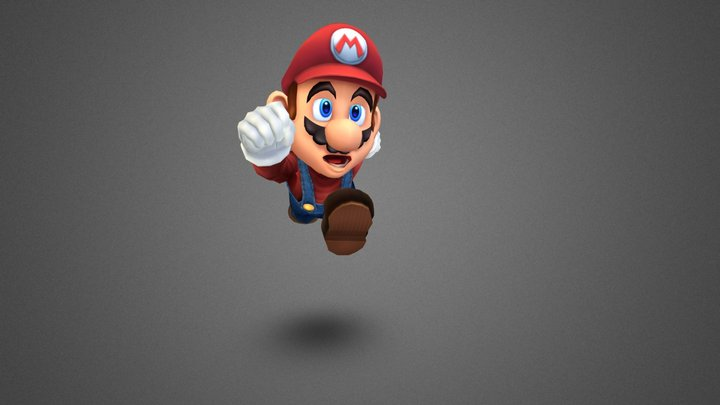 Lowpoly game character - Mario 3D Model