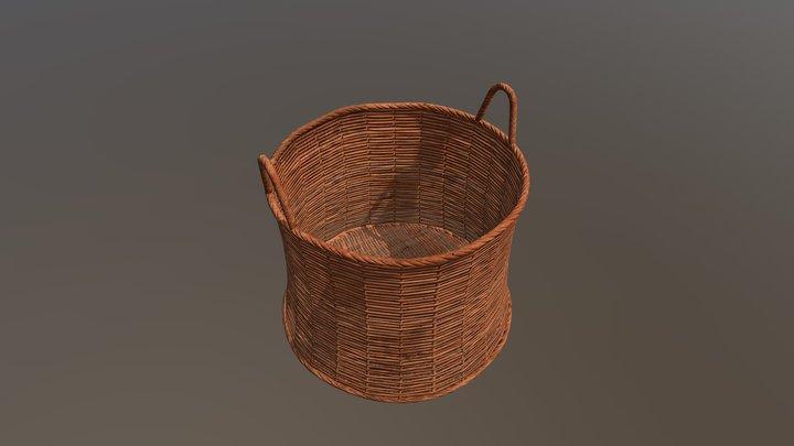Wicker basket 01 3D Model