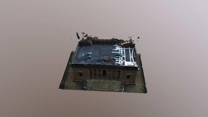 Cooper Library in Johnson Park, Camden, NJ 3D Model