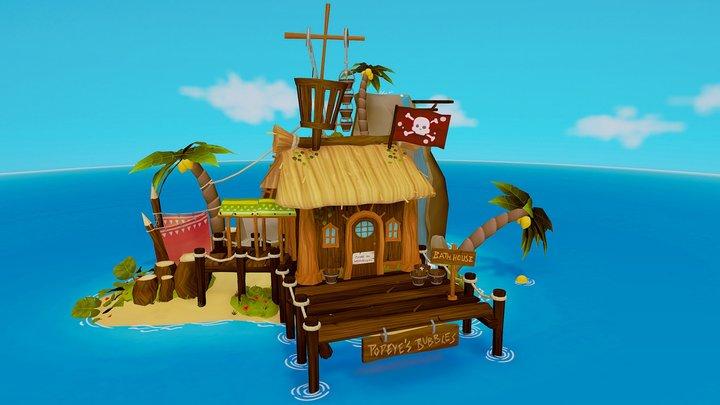 Popeye's bathing house 3D Model