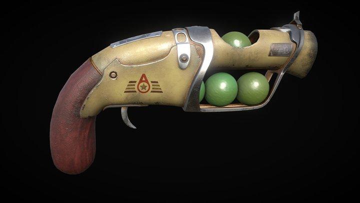 MARCUS - gun02b - short 3D Model