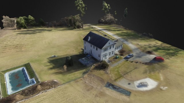 House on the Hill - DroneDeploy 3D Model