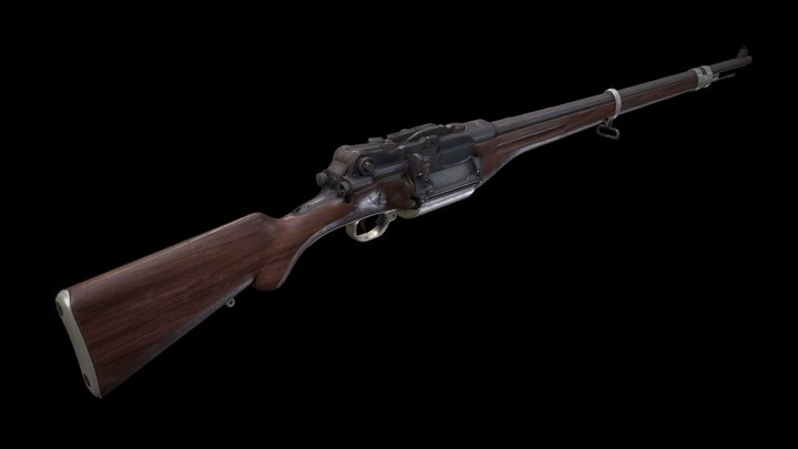 Stendeback mod. 1936 - rifle prototype 3D Model