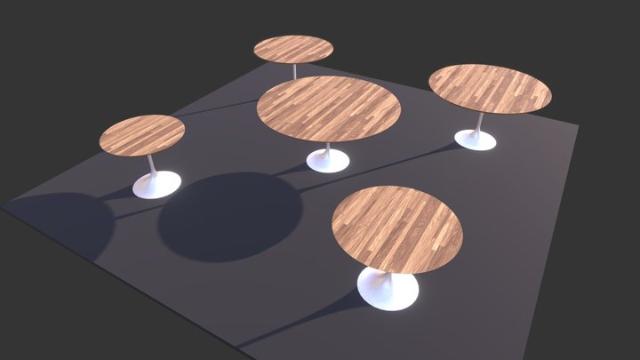 Round Table 3D Model