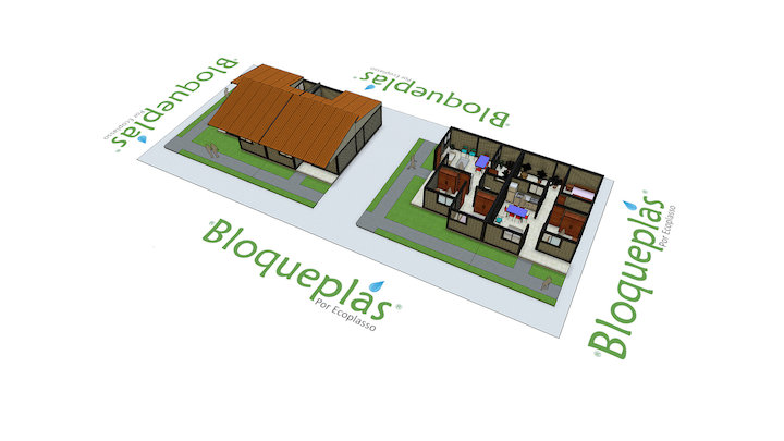 Vivienda social Bloqueplas - Social Housing 3D Model