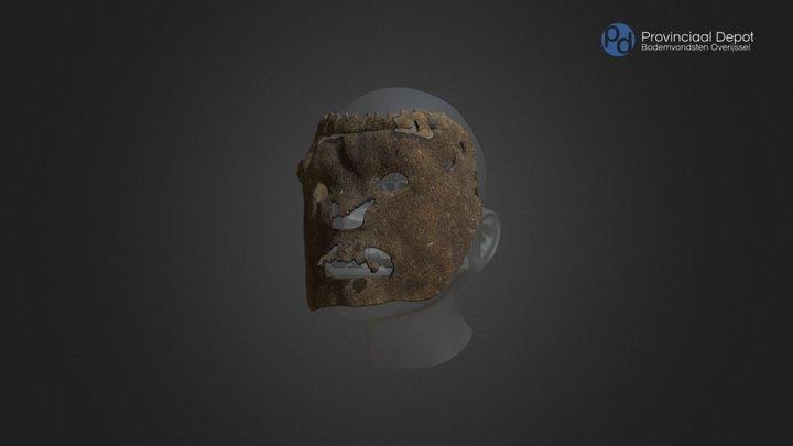 Leren masker, middeleeuwen, 14de of 15de eeuw 3D Model