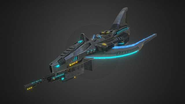 Space Ship - Fighter 3D Model