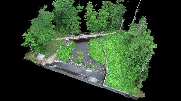 Oyster River Reservoir Dam (Higher Altitude) 3D Model