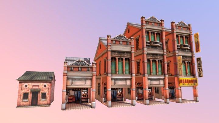 Taiwan Buildings 3D Model