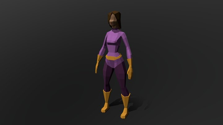 Spy Girl #1 | No Rig | Low poly 3D Model