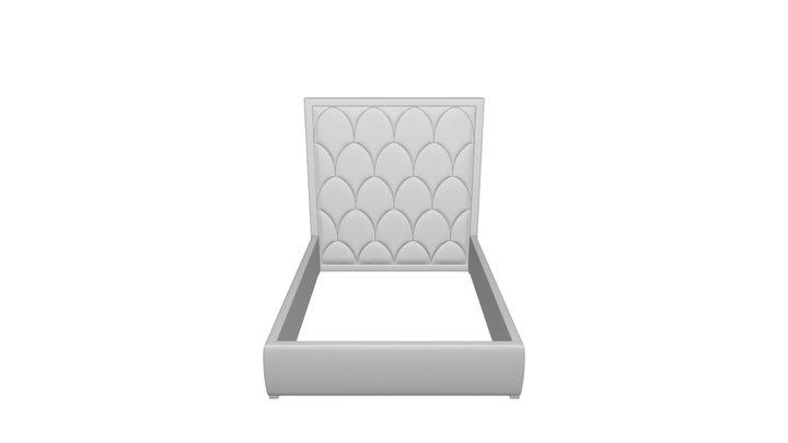 Bed 160x200 Queen Petals blue. DG-HOME 3D Model