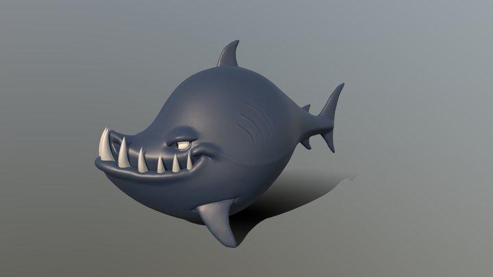 Shark Sculpting Tutorial 3D Model