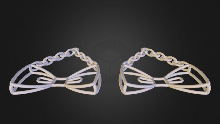 Bow Tie Earrings 3D Model