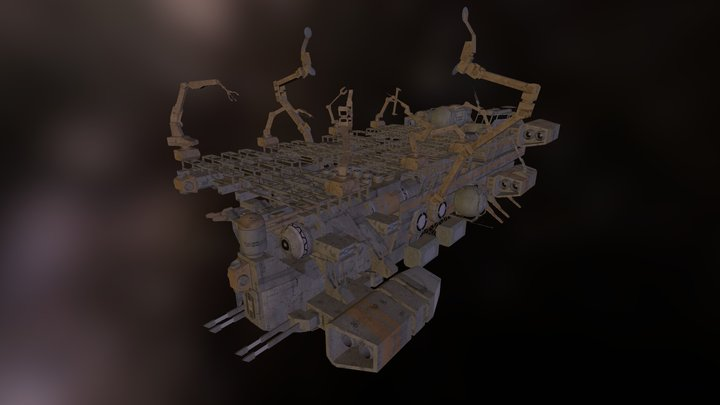 Lisse Mobile Shipyard 3D Model