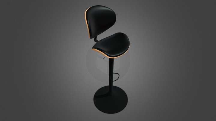 Adjustable Height Bar Stool 3D Model
