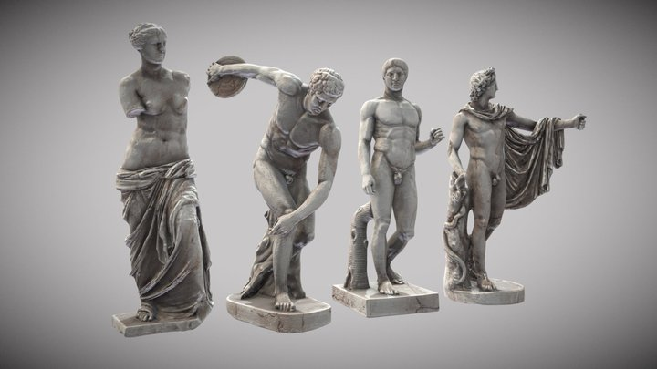 Compilation #StatuesTexturingChallenge [SMK] 3D Model
