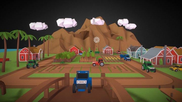 SimplePoly Farm - Low Poly Assets 3D Model