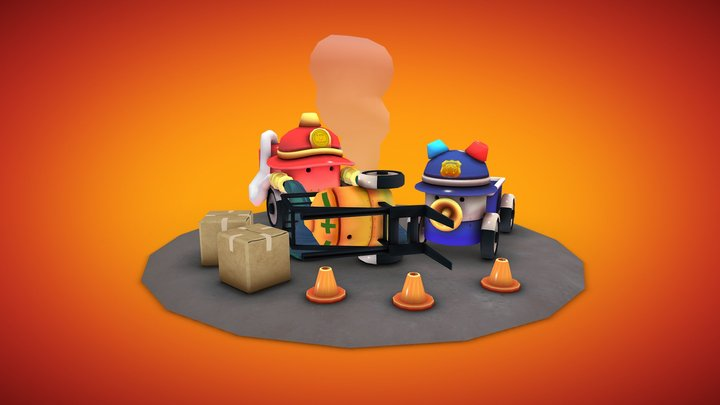 Wind-up Robots 3D Model