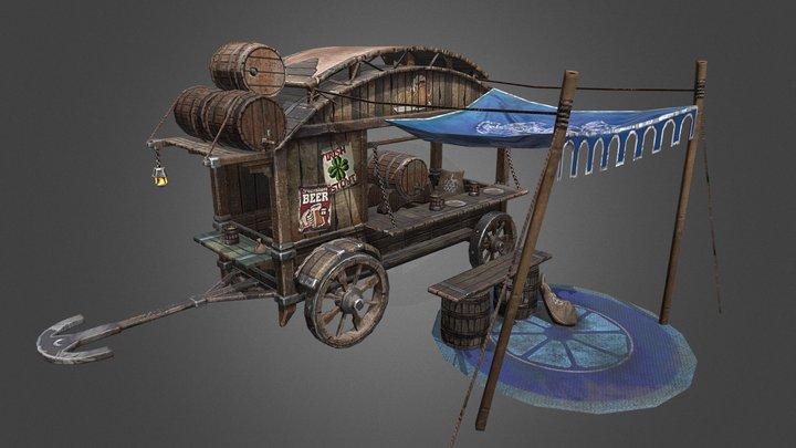 Beer Carriage 3D Model