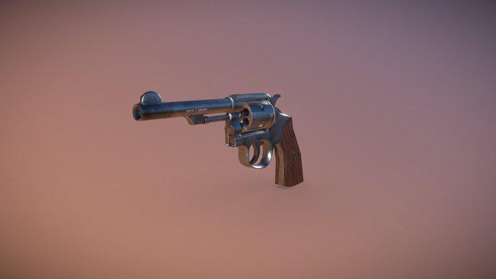 Revolver Smith & Wesson 3D Model
