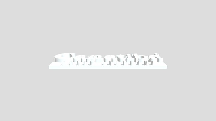 Canatiba Logo Base STL 3D Model