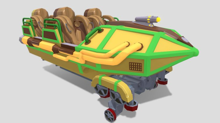 Space Mountain Mission 2 3D Model
