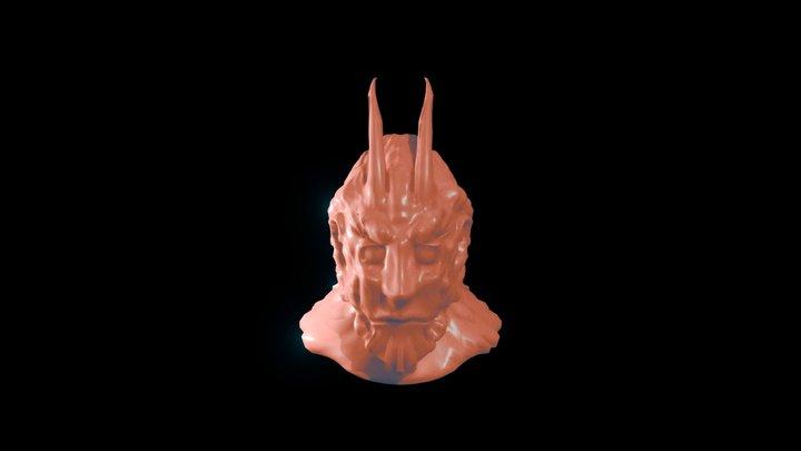 Demon Head sculpture 3D Model