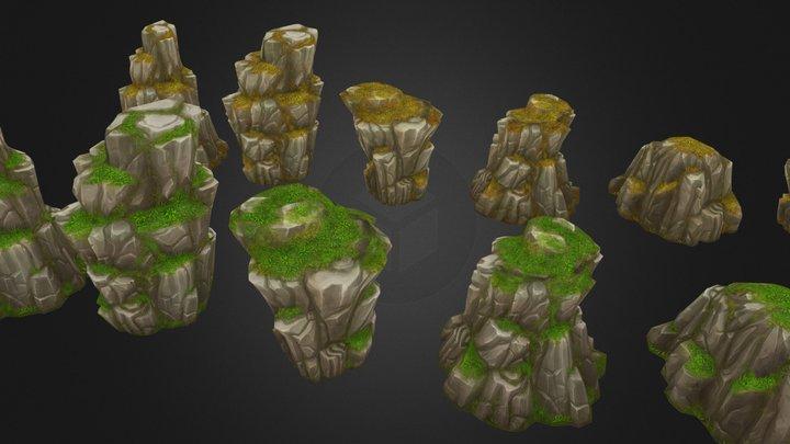 Rock Formation Pack 3 3D Model