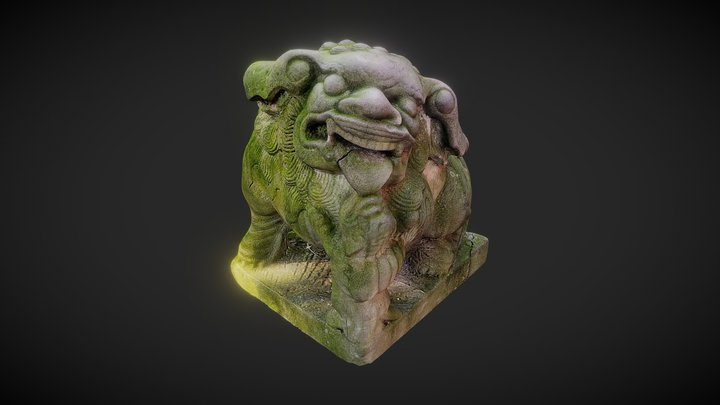 Statue - Temple Wind Lion 3D Model