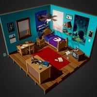 Star Wars Bedroom Diorama 3D Model