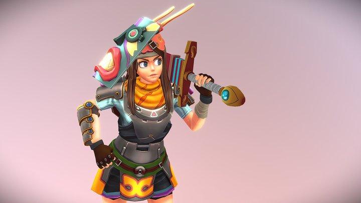 Sword Girl 3D Model