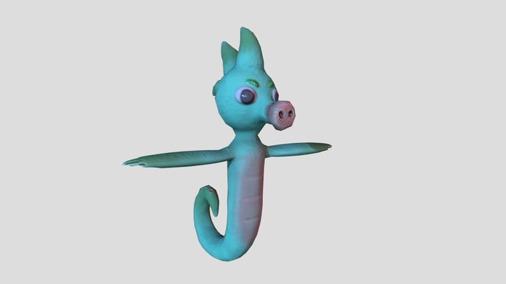 Seahorse final 3D Model