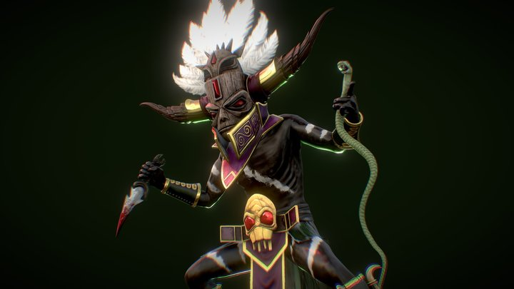 Witch Doctor - FanArt Diablo 3 3D Model