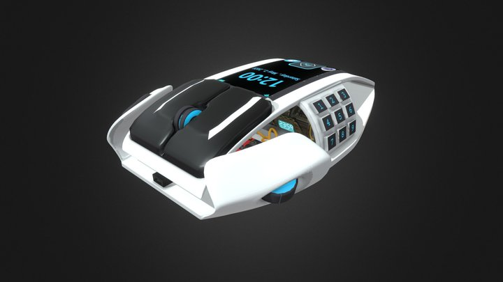 Wired Futuristic Mouse 3D Model