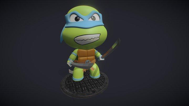 Teenage Mutant Hero Turtles - Leonardo 3D Model