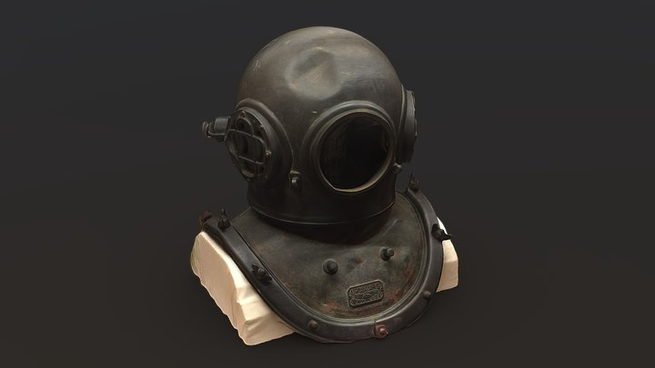 Scuba Diving Divers Helmet SCAN 3D Model