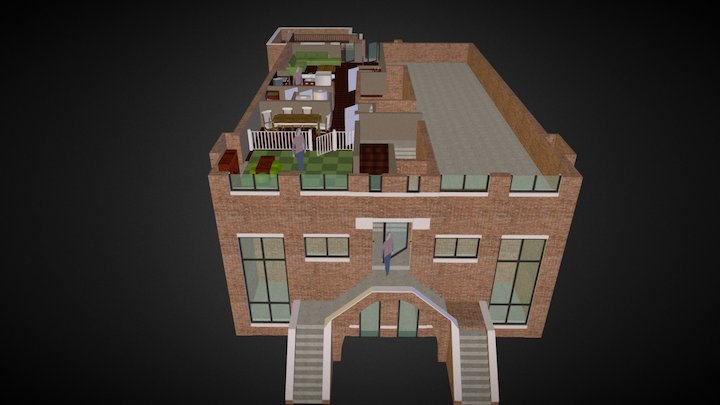 2nd Floor; 1714 West Superior Street 3D Model