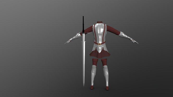 Girl Armor 01 3D Model