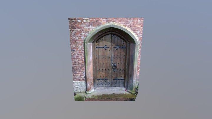 Old door photogrammetry low-poly test 3D Model