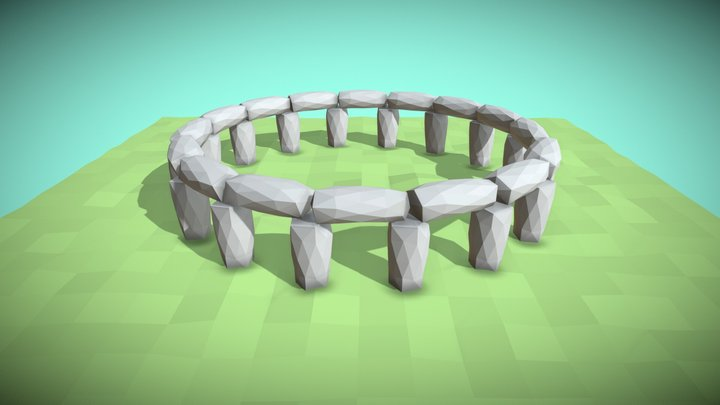 Low Poly Stonehenge 3D Model
