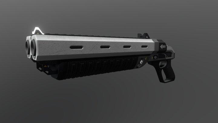 UNSC M90S-Heavy Double Barrel 3D Model