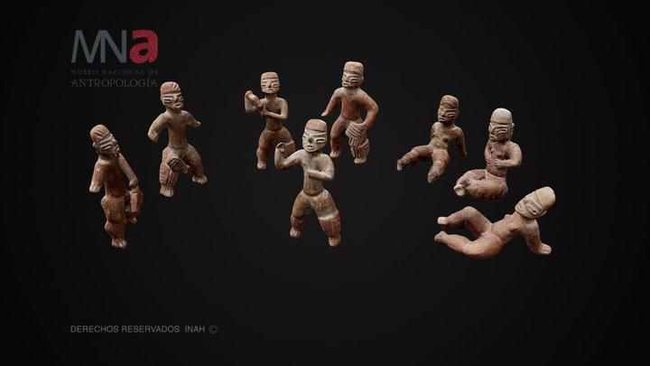 Jugadores de pelota, El Opeño, Michoacán 3D Model
