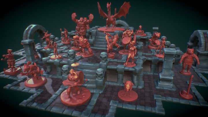 Table Top Wars Sculpting Challenge: The Entries 3D Model
