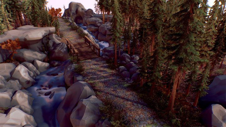 Forest location (Cugo) 3D Model