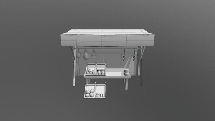 Puesto de comida 3D Model