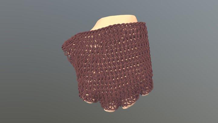 Custom Knit Glove 3D Model