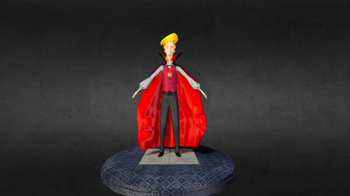 Guybrush Threepwood in Dracula Costume 3D Model