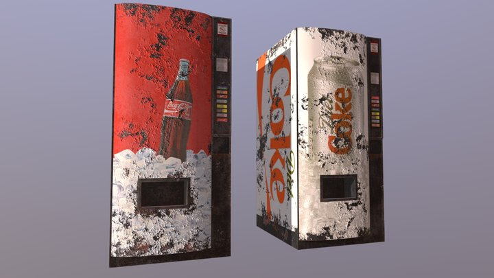 Soda Machines 3D Model
