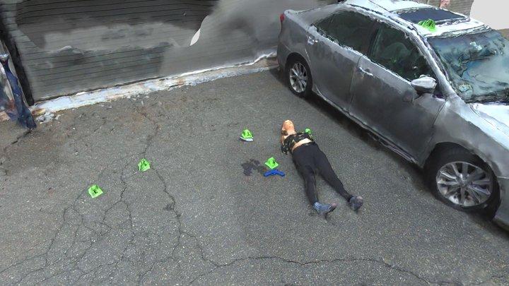 Mock Crime Scene 3D Model