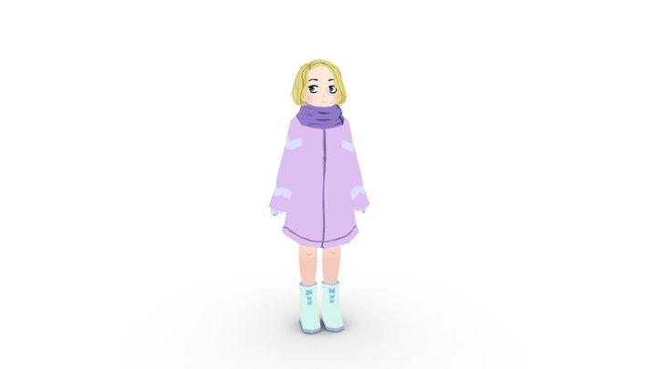 Snow girl 3D Model